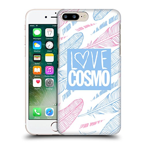 Official Cosmopolitan Zebra Love Cosmo Hard Back Case for Apple iPhone X Pastel Feathers