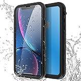 AICase Coque Étanche iPhone XR,[Certifiée IP68] 360°Protection Waterproof Housse [Antichoc] Antipoussière, Anti-Neige pour iPhone XR 6.1', Noir (iphone XR)