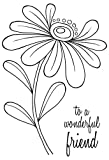 Woodware klar Magic Skurril Flower-Alice Stempel Set, Polymer, 21x 11x 0,6cm -