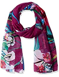 Desigual Women's Gardenette Rectangle Flower Print Foulard Fashion Scarf