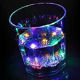 bar@drinkstuff Líquido Activado Intermitente Vaso 7.7oz/220ML-en Caja de Regalo de la Novedad LED luz de Cristal de plástico