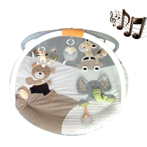 Coupon Matrix - MiniDream Baby Jumbo Round Playmat Activity Gym Music Play Mat