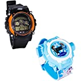 Shanti Enterprises Combo Frozen Princess 24 Images Projector Watch And Sports Watch Multi Color Dial For Kids - B075735B18
