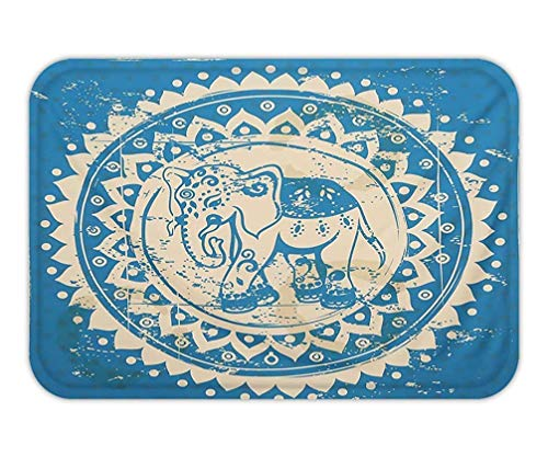 CHKWYN Doormat Modern Yoga Mat Decoration for Apartment Dorm Bedroom Living Room Square Beach Towel Medium Size TapestriecmXcm (Classical Elephant).jpg 15.7X23.6 Inches/40X60cm Medium Square Tray