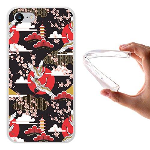 iPhone 7 Hülle, WoowCase Handyhülle Silikon für [ iPhone 7 ] Weisse Schokolade und Waffel Handytasche Handy Cover Case Schutzhülle Flexible TPU - Transparent Housse Gel iPhone 7 Transparent D0298