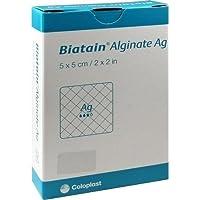 BIATAIN Alginate Ag Kompressen 5x5 cm mit Silber 10 St Verband preisvergleich bei billige-tabletten.eu