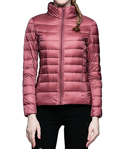AJFASHION Damen Daunenjacke Jacke, Einfarbig Gr. S, dunkelrosa (Ascent Womens Jacket)