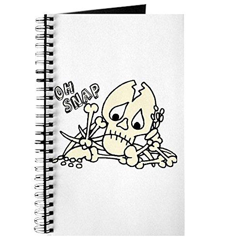 CafePress–Oh Snap. Halloween Skelett–Spiralbindung Journal Notizbuch, persönliches Tagebuch, liniert