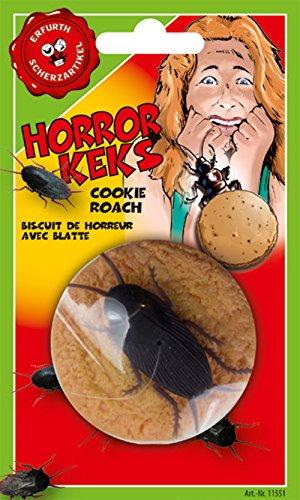 Scherzkeks, ca. 6 cm Durchmesser, mit (Kostüme Kind Kakerlake)