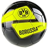 Puma Ball BVB EVO Speed 5.4 Graphic, Black/Cyber Yellow, 4, 082533 01