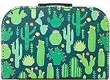Sass and Belle Koffer/Kinderkoffer/Puppenkoffer/Aufbewahrungsbox. Pappkoffer, 3 Verschiedene Größen. (Colourful Cactus, L/Groß)