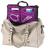 Xcase Tascheneinsatz: Handtaschen-Organizer mit 13 Fächern, 26 x 16 x 8 cm, waschbar, lila (Taschen-Organizer)