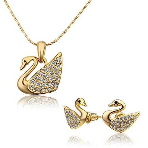 Oro 18 carati placcato affascinanti abiti forma carino anatra