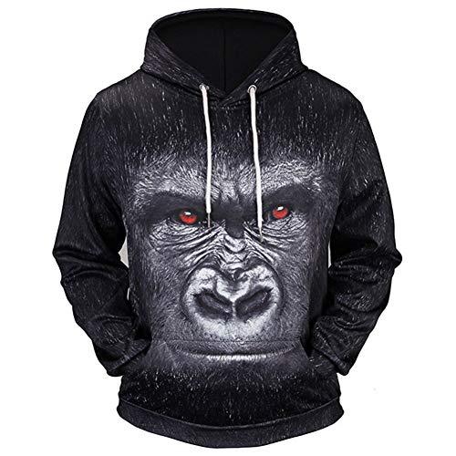 AASSDD Neue Outdoor-Sportsweatshirts Männer Mit Kapuze 3D-Bedruckter Kapuzenpullover Männer Trainingsbekleidung Sweatshirts