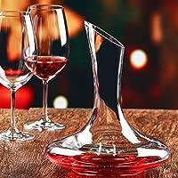 1500 ml en verre cristal Décanteur à vin, Faway Carafe à vin rouge Aérateur  de 33767fa6a4ff