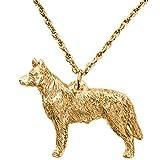 Australian Cattle Dog Hergestellt in U.K. Kunstvolle Hunde- Anhänger Sammlung (22 Karat Vergoldung / gold plattiert)