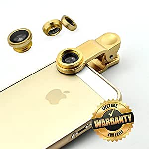 Clemagic 3 In 1 Phone Lens Clip-On 180 Degree Supreme Fisheye + 0.67X Wide Angle+ 10X Macro Lens For iPhone 6 / 6 Plus, iPhone 5 5S 4 4S Samsung HTC Blackberry