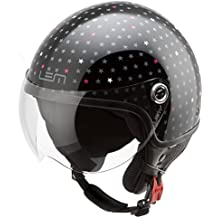 Casco Moto LEM - Roger Dusty, NEGRO BRILLO (S)