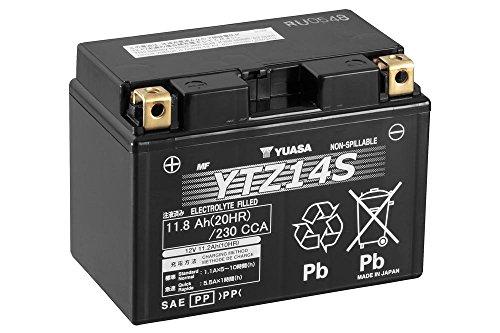 Batteria YUASA YTZ14S, 12V/11,2ah (dimensioni: 150X 87X 110) per Yamaha V-Max 1700anno di costruzione 2009