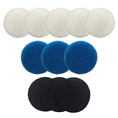 Finest-Filters Compatible Filter Media Set for Eheim Ecco 2232 / 2234 / 2236 Including 5 x Poly, 3 x Coarse Foam, 3 x Carbon Foam