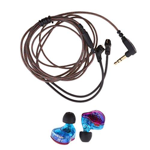 MagiDeal 3.5mm In-Ohr KZ ZST Kopfhörer mit abnehmbare Kabel für Joggen, Running