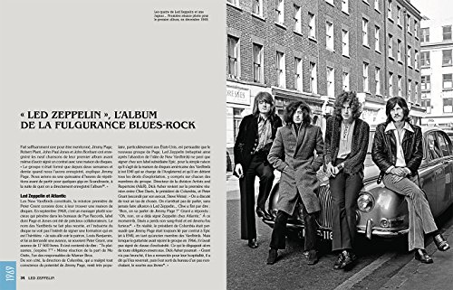 Page du livre Led Zeppelin la Totale présentant le premier album du groupe