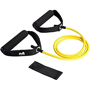 REEHUT Resistance Fitnessbändern mit Türanker, Fitnessbänder Gymnastikbänder Übungsbänder aus Naturlatex für Muskeltraining Yoga Pilates Rehabilitation