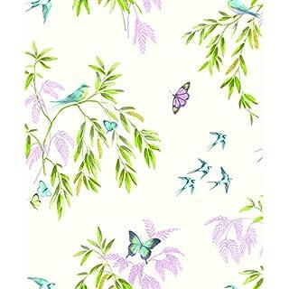 Arthouse 665700 Halcyon Days Wallpaper, Cream Multi, 53 cm x 10.05 m