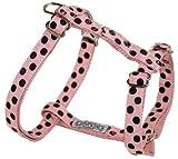 Wouapy Hundegeschirr, 36–52cm, Pink, gepunktet