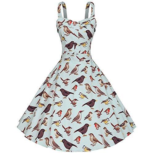 yazaco-damen-50er-retro-kleid-armellos-a-linie-vogel-stoffdruck-partykleid-cocktailkleid