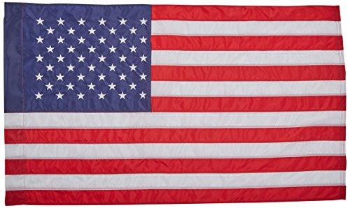 Nyl Glo Nylon (American Flagge 2½ x 4ft. Nylon solarguard nyl-glo von Annin flagmakers, 100% Made in USA mit genäht Streifen, gestickte Sterne und banner-style Pole Sleeve. Modell 21850)