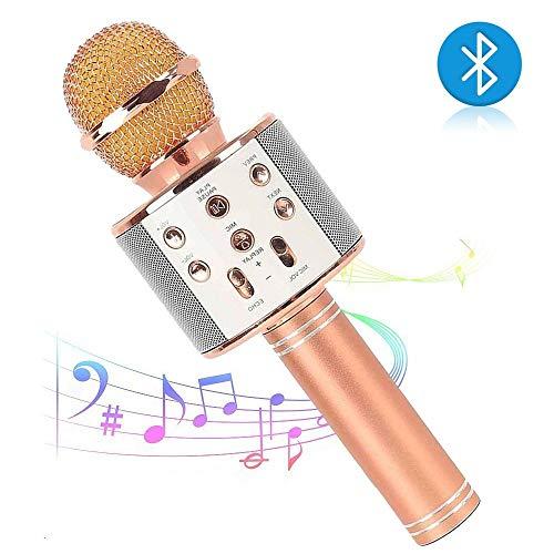 Preisvergleich Produktbild MLYDW Microfono Wireless Portatile - Microfono Karaoke Bluetooth - Altoparlante 4 in 1 Per Voce e Registrazione - Compatibile Con Android / IOS,  PC e Tutti GLI Smartphone