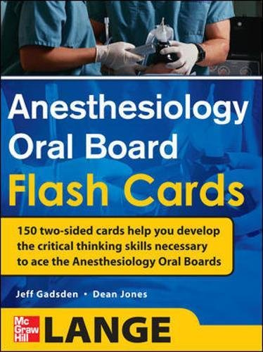 Anesthesiology oral board flash cards (Medicina)