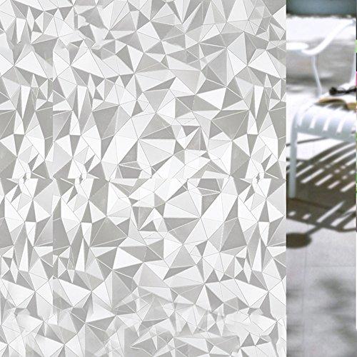 HXSS Datenschutz Statische Aufladung Glasfolie Selbstklebend u. Dekorativ Aufkleber für Kinderzimmer & Badezimmer 45cm x 2m (Fenster-folie Abnehmbare)
