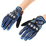 Pro-biker Doigt Complet moto vélo course équitation gants( couleur: bleu taille: L)