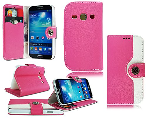 Schutzhülle Geldbörse (Neues Design Leder Flip Cover für verschiedene Handy Modelle Pink FOR SAMSUNG FAME S6810