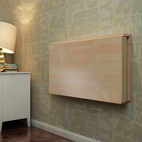 JJJJD Faltbarer Wand-Computer-Esstisch aus massivem Holz, Wandschreibtisch Rechteckiges Eckablage-Regal (Size : 100 * 60 * 40cm) - Kiefer Rechteckig Esstisch