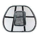 New-green Sedia della sede posteriore di massaggio della maglia di sostegno lombare arieggia pad Car