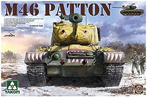 TAKOM TAK2117 US Medium Tank M-46 Patton - Coche teledirigido (Escala 1:35), Multicolor