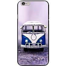 Old Camper Van carcasa rígida para teléfonos móviles, plástico, Old Blue Camper Van, Apple iPhone 6 PLUS