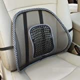 #9: Urbanlifestylers Car Seat Massage Chair Back Lumbar Support Mesh ,Black