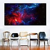 RTCKF Stampa su Tela d'Arte Spazio cosmico Stella Moderna Immagine a Colori per Soggiorno Decorazione del Paesaggio (Senza Cornice) A4 40x80 cm