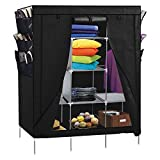 "Top Home Solutions® 69"" Portable Closet Storage Organizer Clothes Wardrobe Shoe Rack"
