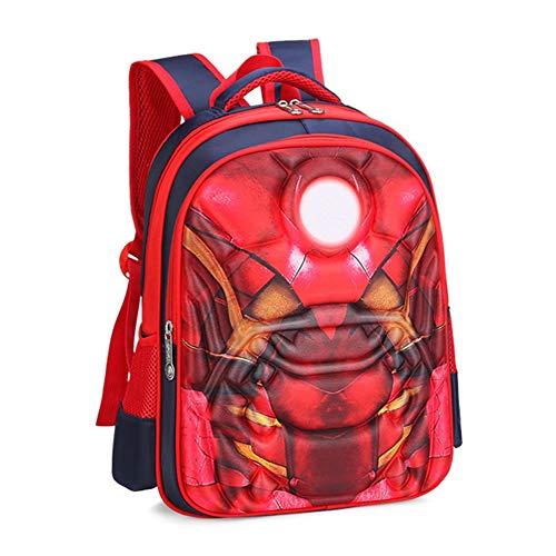Lila GO2 Kinder Schultasche Spiderman Rucksack Captain America Batman für Jungen Kinder Schulrucksack mit 3D Anime Super Hero Design Iron Man-l