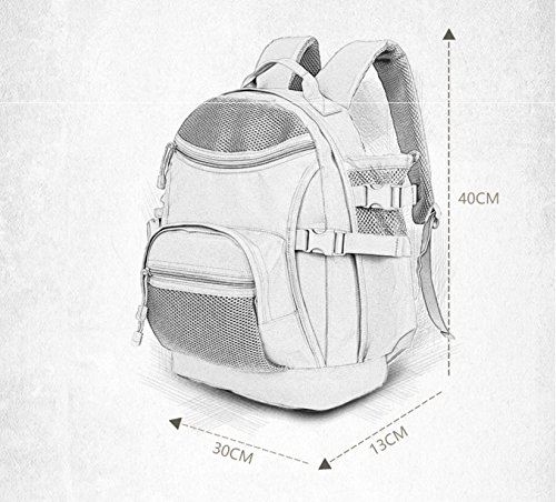 Rucksack Männer und Frauen outdoor Bergsteigen Reisen wasserdicht Double Shoulder Bag casual Fahrt mit Rucksack angeln Tasche 40 * 30 * 13 cm, grau 35 L Grau 35 L