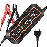 KYG Autobatterie Ladegerät Manuelles Batterieladegerät für Auto und Motorrad ladegerät 6/12V 5A MEHRWEG