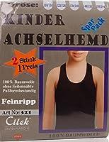 24brands Kinder Jungen Mädchen Funktions Achselhemd Unterhemd Tank Top Feinripp Unterwäsche 2er Pack - 2943