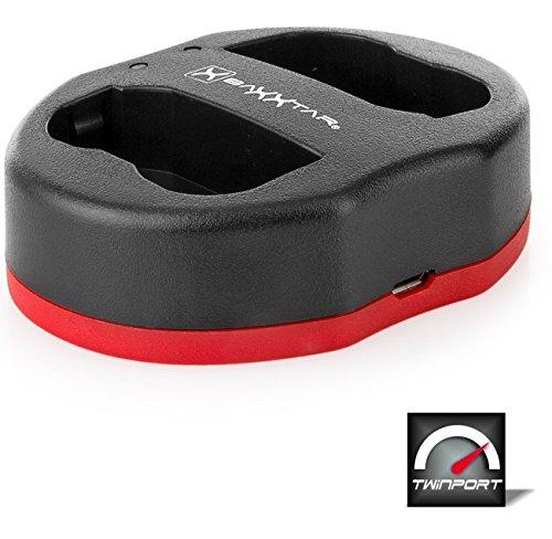 Baxxtar Twin Port 1825 - Kompatibel mit Akku Nikon EN-EL15 EN-EL15a EN-EL15b - USB Dual Ladegerät - Dual-port-usb-kabel