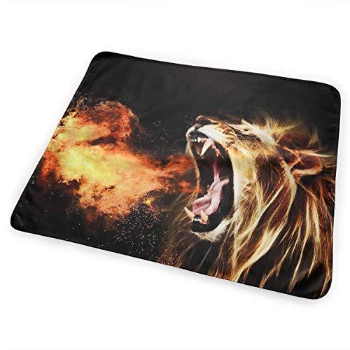 Voxpkrs Weiche Windelkissen Saugfähige waschbare Matratze Handsome Fire Lion Graphic(65x80cm)