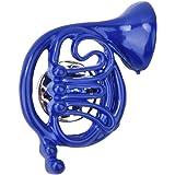 💌Regalo romantico💌corno francese blu, Boquite Spilla per Spilla Blu, Spilla per Spilla con Ornamento per Borsa a Forma di C